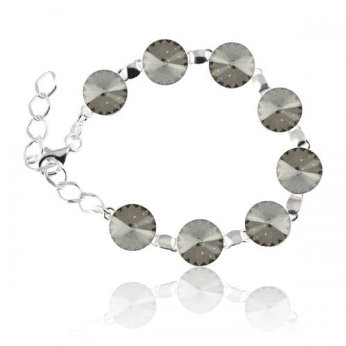 Bratara Argint 925, Bratara SWAROVSKI Grace Silver Shade + CADOU Laveta profesionala pentru curatat bijuteriile din argint + Cutie Cadou