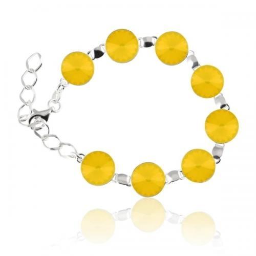 Bratara Argint 925, Bratara SWAROVSKI Grace Yellow Opal + CADOU Laveta profesionala pentru curatat bijuteriile din argint + Cutie Cadou