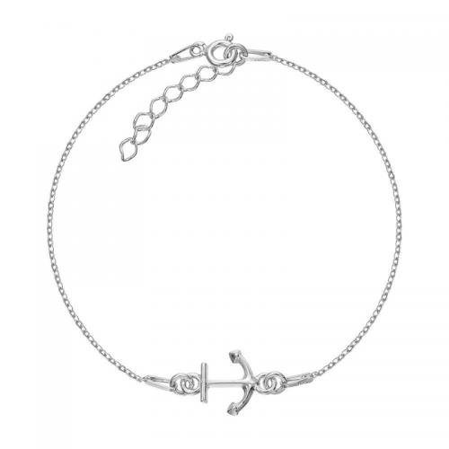 Bratara Argint 925 placata cu rodiu alb si charm Anchor