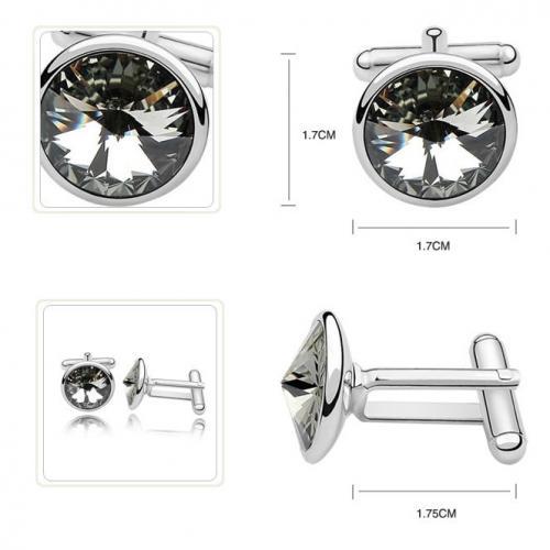Butoni Argint 925, Butoni SWAROVSKI Crystals Diamond 12mm + CADOU Laveta profesionala pentru curatat bijuteriile din argint - Butoni Camasa Criando Bijoux -