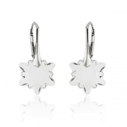 Cercei Argint 925, Cercei SWAROVSKI Crystals Edelweiss Cyrstal + CADOU Laveta profesionala pentru curatat bijuteriile din argint