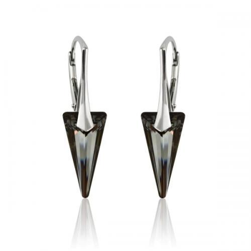 Cercei Argint 925, Cercei SWAROVSKI Crystals Fashion Night + CADOU Laveta profesionala pentru curatat bijuteriile din argint + Cutie Cadou