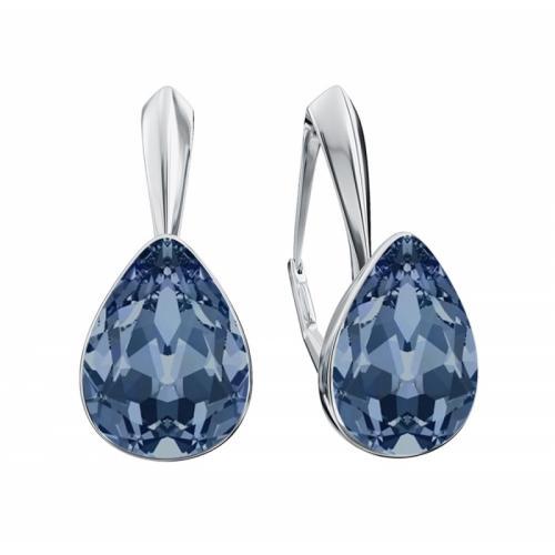 Cercei Argint 925, Cercei SWAROVSKI Crystals Glamour Montana + CADOU Laveta profesionala pentru curatat bijuteriile din argint