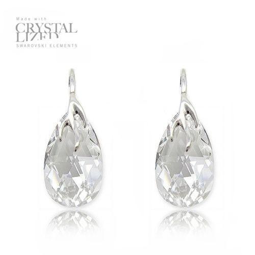 Cercei Argint 925, Cercei SWAROVSKI Crystals Style (2) Crystal + CADOU Laveta profesionala pentru curatat bijuteriile din argint