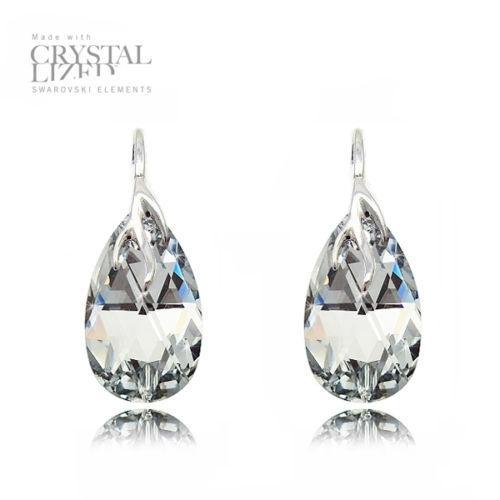 Cercei Argint 925, Cercei SWAROVSKI Crystals Style (2) Crystal CAL + CADOU Laveta profesionala pentru curatat bijuteriile din argint