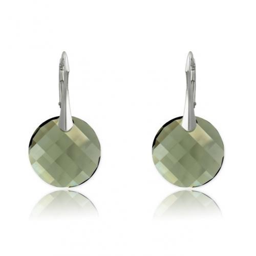 Cercei Argint 925, Cercei SWAROVSKI Crystals Twist Diamond + CADOU Laveta profesionala pentru curatat bijuteriile din argint
