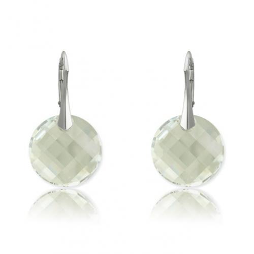 Cercei Argint 925, Cercei SWAROVSKI Crystals Twist Moonlight + CADOU Laveta profesionala pentru curatat bijuteriile din argint