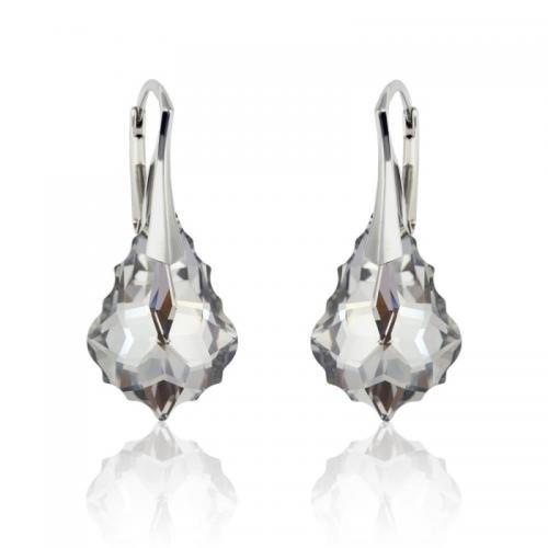 Cercei Argint 925, Cercei SWAROVSKI Crystals Unique Aurore Boreale 22mm + CADOU Laveta profesionala pentru curatat bijuteriile din argint + Cutie Cadou