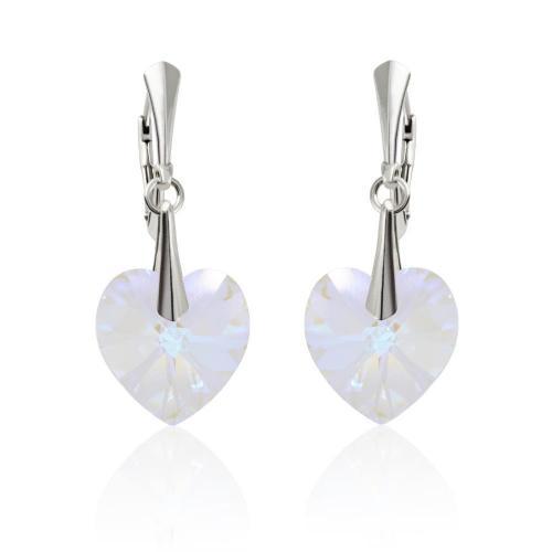 Cercei Argint 925, Cercei SWAROVSKI Passion Blue AB + CADOU Laveta profesionala pentru curatat bijuteriile din argint + Cutie Cadou