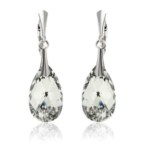 Cercei Argint 925, Cercei SWAROVSKI Style Crystal CAL 22mm + CADOU Laveta profesionala pentru curatat bijuteriile din argint