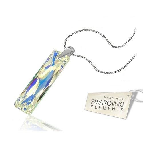 Colier Argint 925, Colier SWAROVSKI Crystals Elegance Aurore Boreale + CADOU Laveta profesionala pentru curatat bijuteriile din argint
