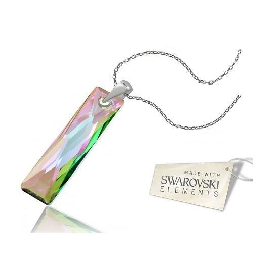 Colier Argint 925, Colier SWAROVSKI Crystals Elegance Paradise + CADOU Laveta profesionala pentru curatat bijuteriile din argint