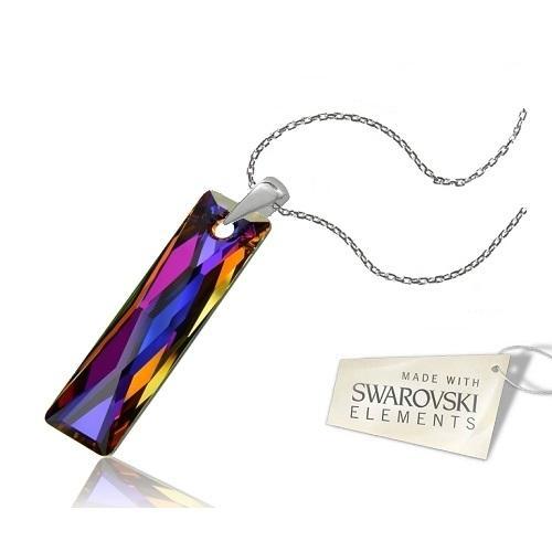 Colier Argint 925, Colier SWAROVSKI Crystals Elegance Volcano + CADOU Laveta profesionala pentru curatat bijuteriile din argint
