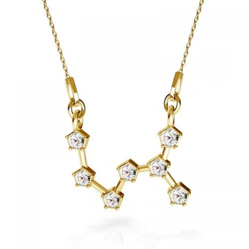 Colier Constelatie Zodiacala Scorpion din Argint 925 placat cu Aur 24k si SWAROVKI Crystals + CADOU Laveta profesionala pentru curatat bijuteriile din argint
