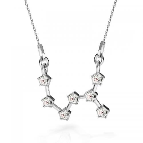 Colier Constelatie Zodiacala Scorpion din Argint 925 si SWAROVKI Crystals + CADOU Laveta profesionala pentru curatat bijuteriile din argint
