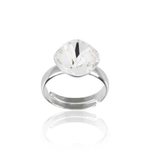Inel Argint 925, Inel SWAROVSKI Brilliant Crystal Clear 12mm + CADOU Laveta profesionala pentru curatat bijuteriile din argint + Cutie Cadou