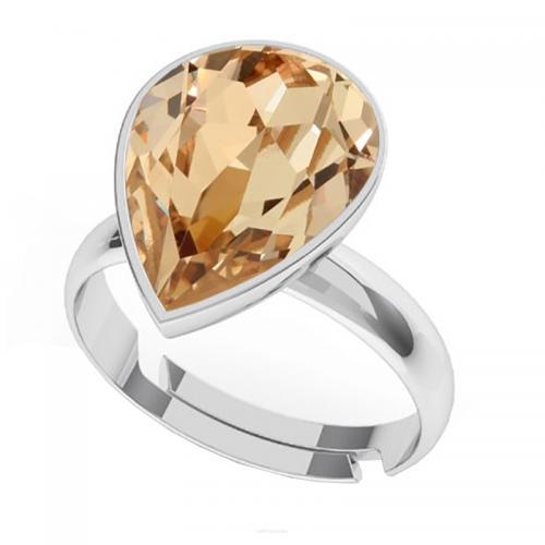 Inel Argint 925, Inel SWAROVSKI Crystals Glamour Light Silk + CADOU Laveta profesionala pentru curatat bijuteriile din argint