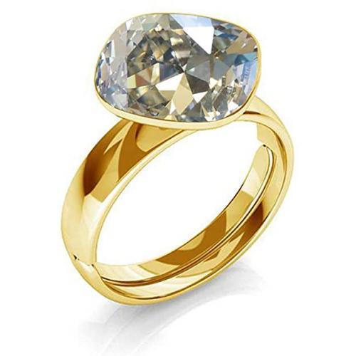 Inel Argint 925 placat cu Aur 24k, Inel SWAROVSKI Brilliant Moonlight + CADOU Laveta profesionala pentru curatat bijuteriile din argint