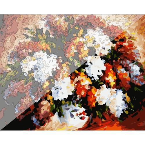 Pictura pe numere Flori 40x50 cm PDP1350