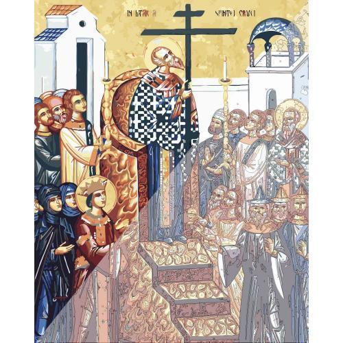 Picturi pe numere Religioase 40x50 cm Inaltarea Sfintei Cruci 14 Septembrie PDP1458