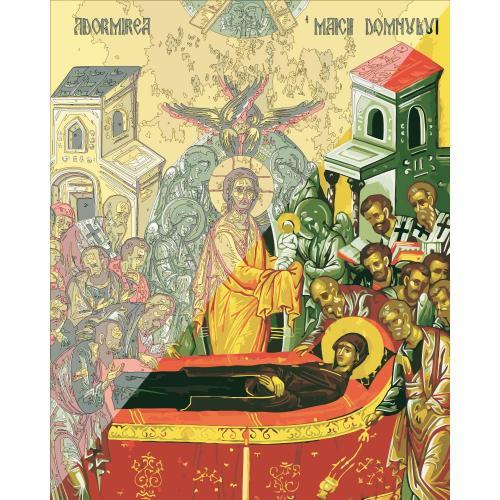 Picturi pe numere Religioase 40x50 cm Adormirea Maicii Domnului 15 August PDP1459