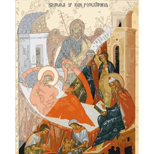 Picturi pe numere Religioase 40x50 cm Nasterea Sfantului Ioan Botezatorul 24 Iunie PDP1467
