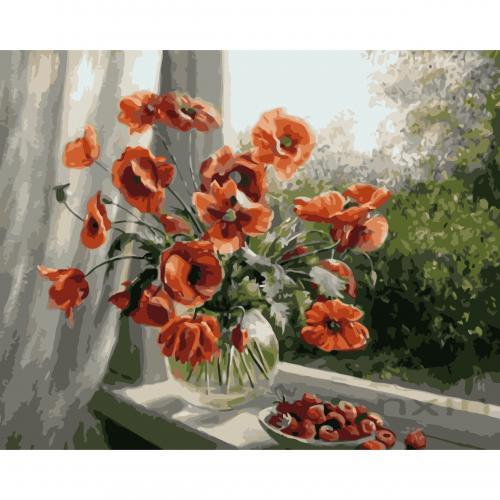 Pictura pe numere Flori 40x50 cm PDP2760