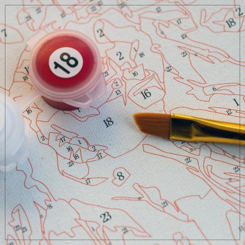 Pictura pe numere 40x50 cm - Panza din bumbac pe rama de lemn - Pink Tulips (PDP-555)