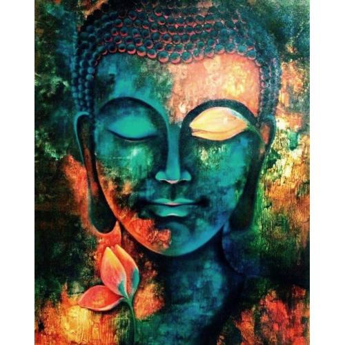 Pictura pe numere - Panza din bumbac pe rama de lemn 40*50 cm - Budha (4) (PDP-721)