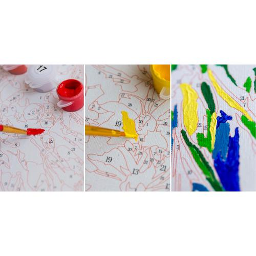 Pictura pe numere - Panza din bumbac pe rama de lemn 60*75 cm - Floarea Soarelui (SY-008)