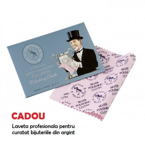 Set Argint 925 placat cu Aur 18k, Set SWAROVSKI Style Helios + CADOU Laveta profesionala pentru curatat bijuteriile din argint + Cutie Cadou