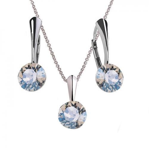 Set Argint 925, Set Swarovski Crystals Finesse Moonlight  + CADOU Laveta profesionala pentru curatat bijuteriile din argint + Cutie Cadou