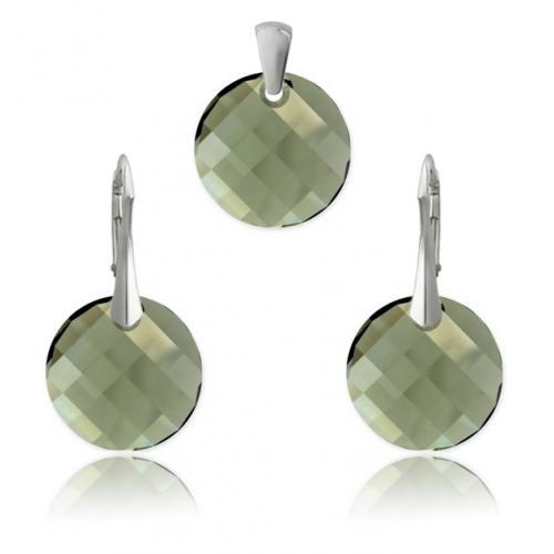 Set Argint 925, Set SWAROVSKI Crystals Twist Diamond + CADOU Laveta profesionala pentru curatat bijuteriile din argint