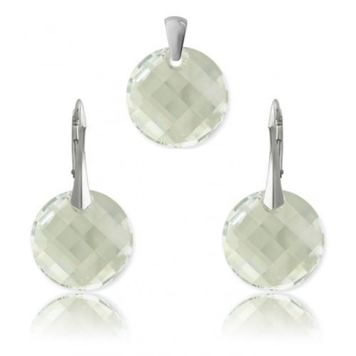 Set Argint 925, Set SWAROVSKI Crystals Twist Moonlight + CADOU Laveta profesionala pentru curatat bijuteriile din argint