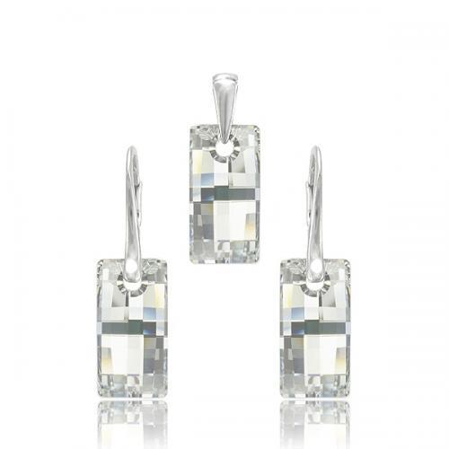 Set Argint 925, Set Swarovski Crystals Urban Crystal CAL + CADOU Laveta profesionala pentru curatat bijuteriile din argint + Cutie Cadou