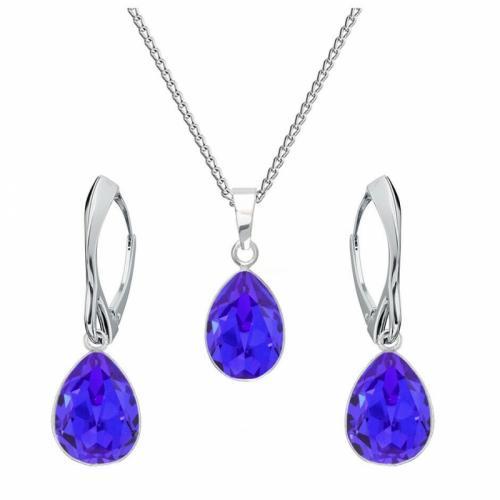 Set bijuterii Argint 925, Set SWAROVSKI Crystals Glamour Majestic + CADOU Laveta profesionala pentru curatat bijuteriile din argint