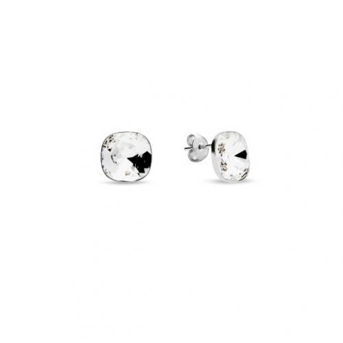 Set Bratara si Cercei Argint 925 cu SWAROVSKI Brilliant Crystal Clear + CADOU Laveta profesionala pentru curatat bijuteriile din argint