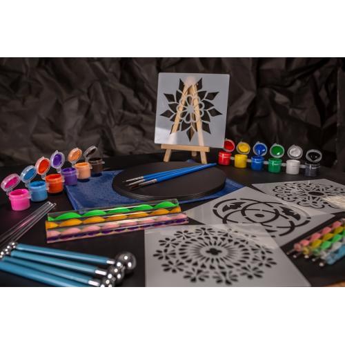 Set pictura Mandala format din 45 de piese - MODEL EXCLUSIV